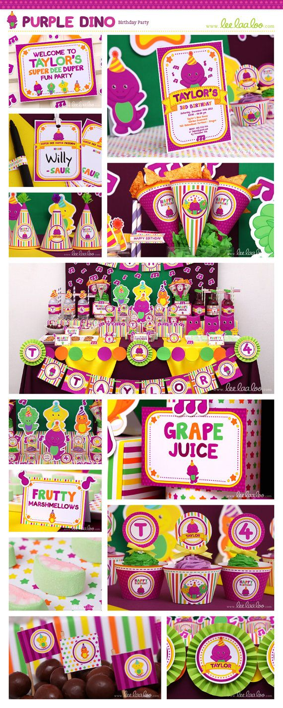 81 best Barney Birthday Party Ideas Decorations and Supplies