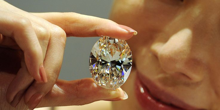 A white diamond the size of a small egg sold for $30.6 million