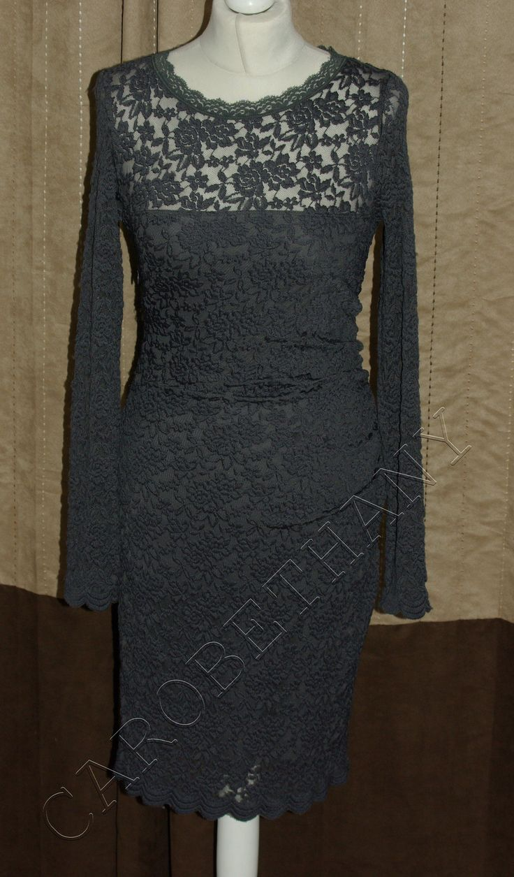 Come and check out the stunning Phase Eight Jeann... on our website right now! http://www.carobethany.co.uk/products/phase-eight-jeannie-lace-charcoal-grey-dress-size-18?utm_campaign=social_autopilot&utm_source=pin&utm_medium=pin