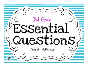 This file can be used with Reading Street to post essential questions in your classroom. FREEBIE!