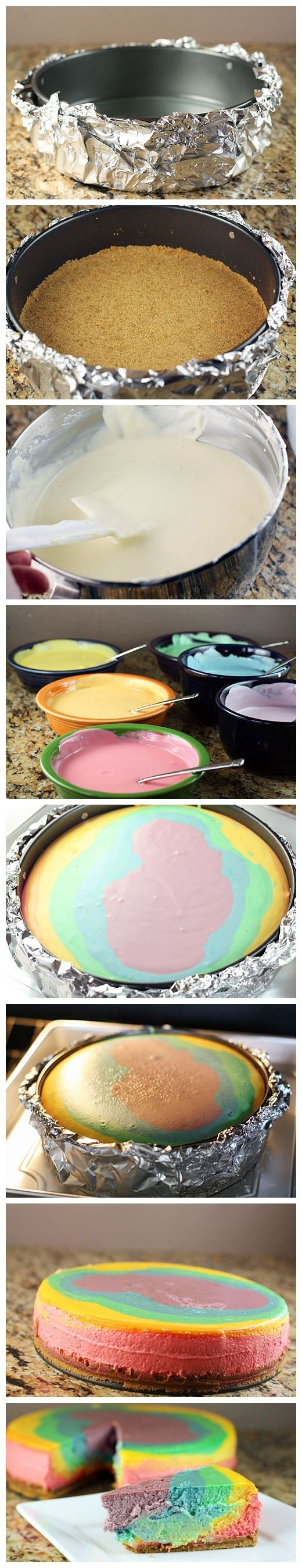 Rainbow Cheesecake Recipe - (tablespoon)