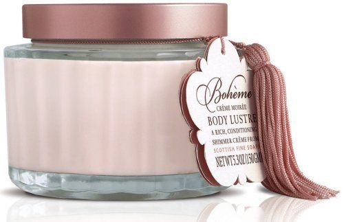 Scottish Fine Soaps Bohème Body Lustre - 150g by Scottish Fine Soaps. $19.95. Packaging may vary. Let this rich body cream with a little added sparkle nourish your skin and leave you with a subtle glow. Boheme Body Lustre will leave skin feeling silky smooth with a radiant sparkle to help provide great looking skin.