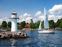 Lighthouse in Hjo, Sweden