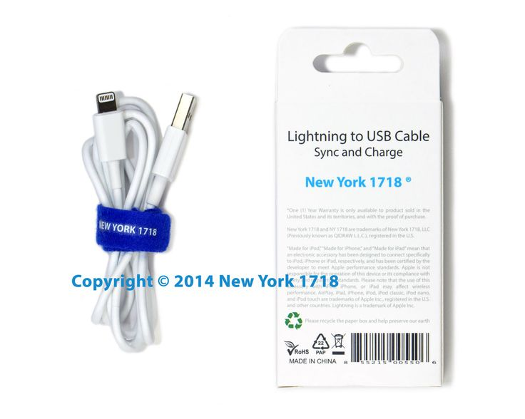 Lightning to USB Cable with Self-adhesive Strap (MFi, 3ft/0.9m) - NY1718 - Quantity   Unit Price$9.99