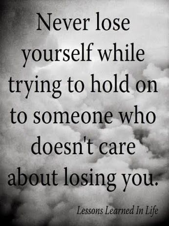 Hasn't fazed him in the least!! Not trying to push the dagger in further, but it's true! He could care less what either side went/are going through... #Quotes