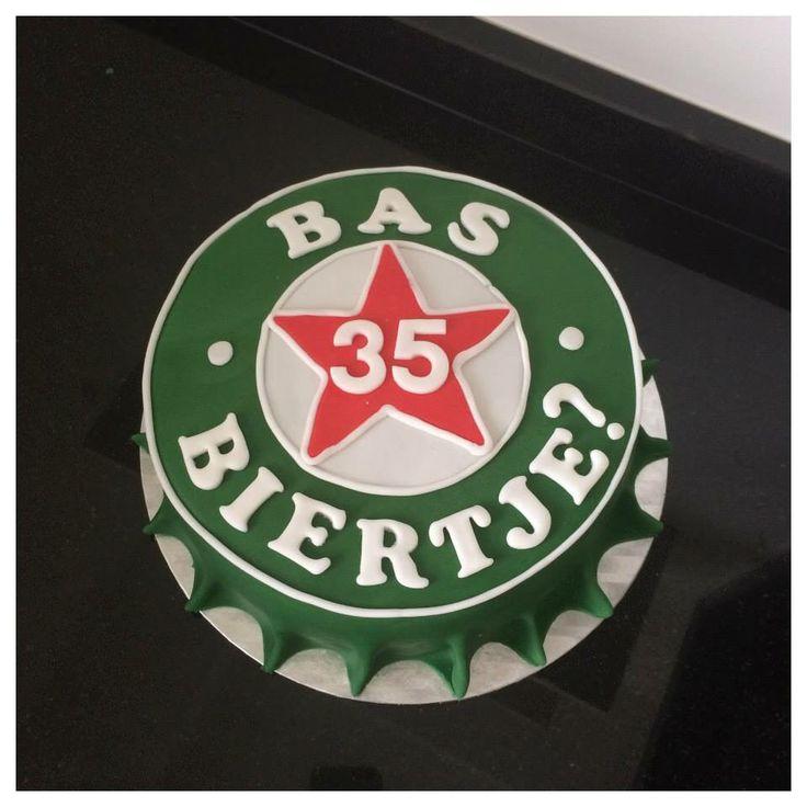 Bierdop taart cake Heineken bier