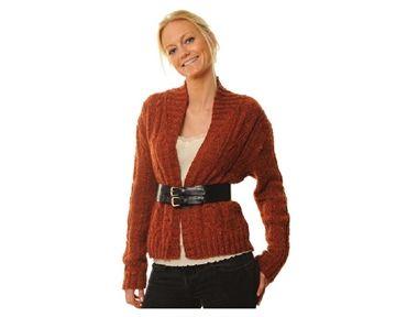 cardigan struktur mønster voksen kvinde hamelton tweed bc strikkeopskrift download strikkepinden.com