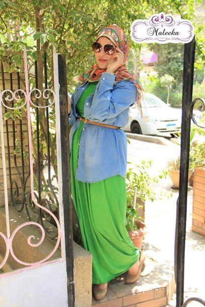 hijab look printed skirt 16