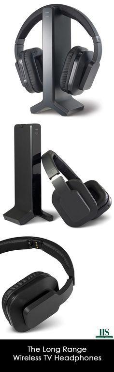 These are the wireless TV headphones that receive a clear audio signal from 95' away—across a room and through walls and ceilings without disturbing others. Its 2.4 GHz digital transmitter connects to a television with an included 3.5mm to RCA cable and broadcasts the audio wirelessly to the headphones, ensuring you never miss a minute of audio during a refrigerator run or an at-home snack excursion.