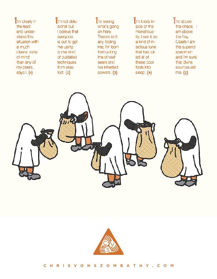 """""""Trick"""" an illustration by artist/designer Chris von Szombathy."""