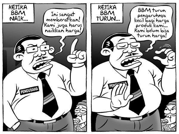 Kartun Benny, Kontan - Januari 2015: Benny Rachmadi - Pengusaha Menolak Trurunkan Harga