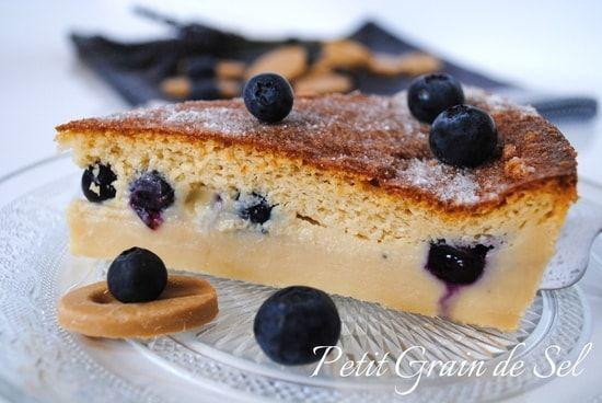Recette de Gâteau magique myrtilles et chocolat blond Dulcey : la recette facile