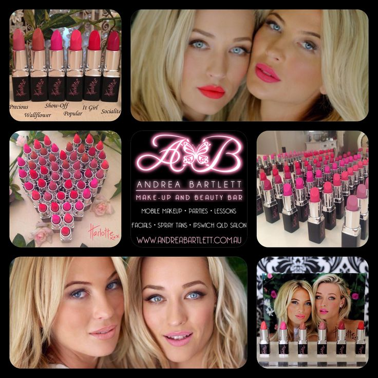 Harlotte Cosmetics - Matt Lipstick Collection - Available at Andrea Bartlett - Make-up & Beauty Bar