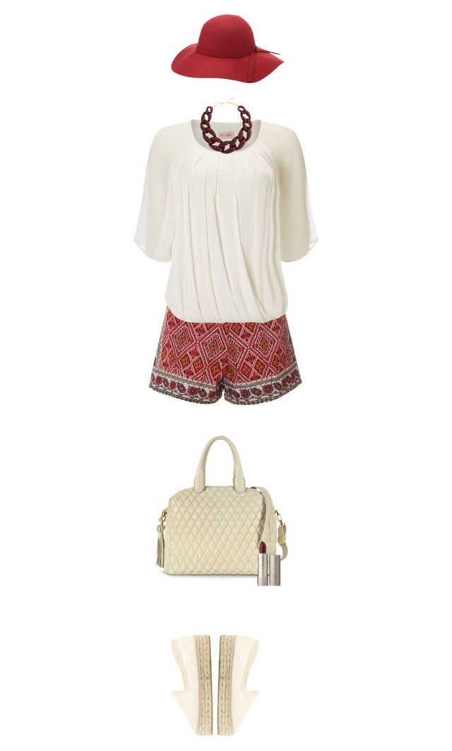 """""""Crème blouse, sac à main et chaussures"""" by polylana on Polyvore featuring Glamorous, Phase Eight, Manebí, Fontanelli, DIANA BROUSSARD, Charlotte Russe, Ilia, afterlaborday and nowhite"""