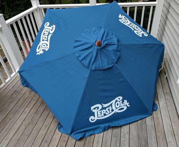 Pepsi Cola 7' Patio Table Umbrella Script #Pepsi