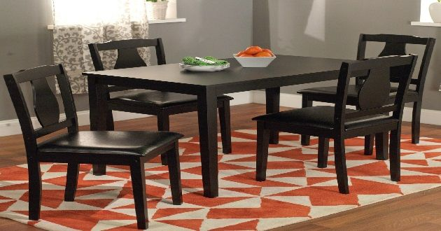 Elegant Kmart kitchen tables modern cheap kitchen table sets under 200 dollars simple black 5-piece Kaylee dining set