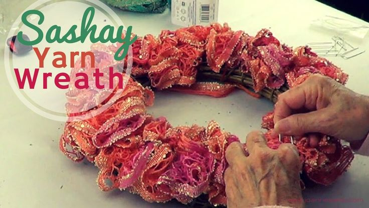 www.joannesweb.com A very simple wreath using sashay (ribbon, ruffle) yarn by Red Heart. Use different colors for each season. www.joannesweb.com The bamboo ...