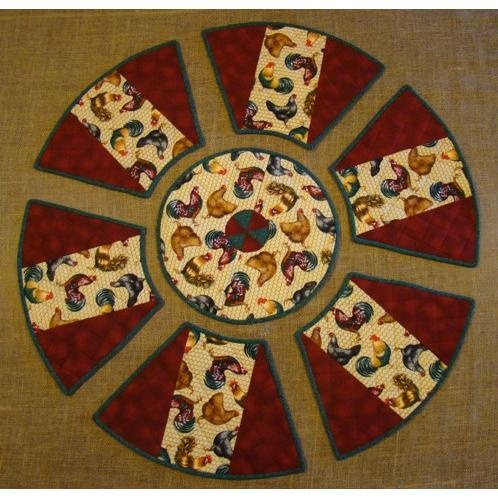 Round table placemat setting on handmade australia home for Round table runner quilt pattern