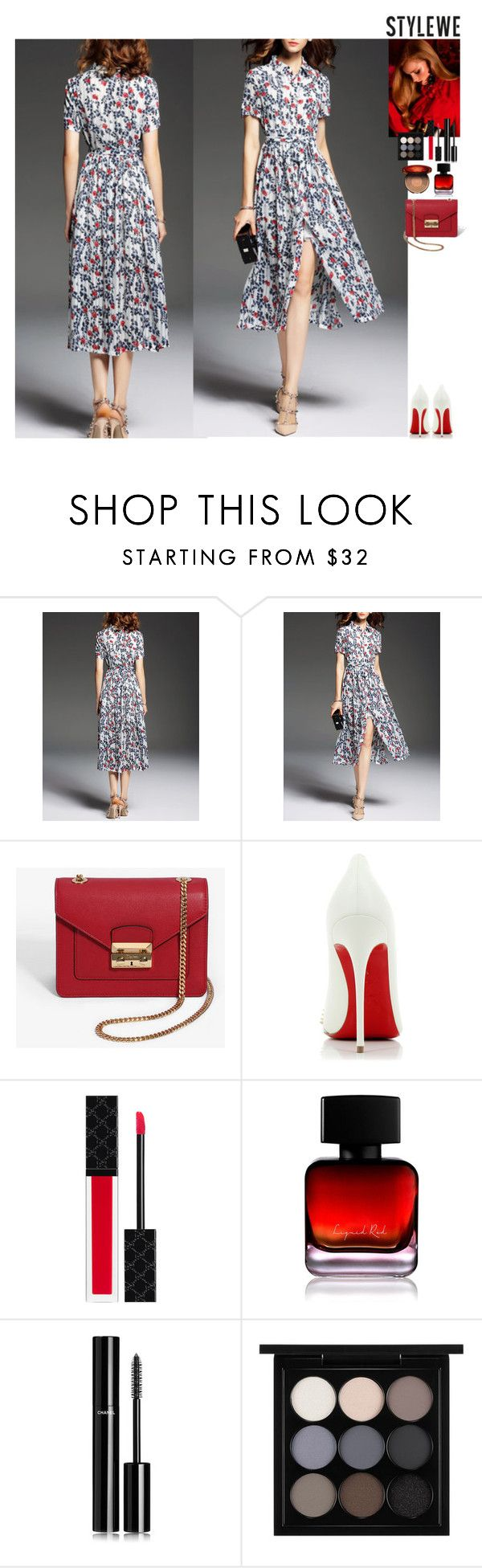 Outfit StyleWe by eliza-redkina on Polyvore featuring мода, Christian Louboutin, MAC Cosmetics, Clarins, Chanel, Gucci, The Collection by Phuong Dang, outfit, like and look