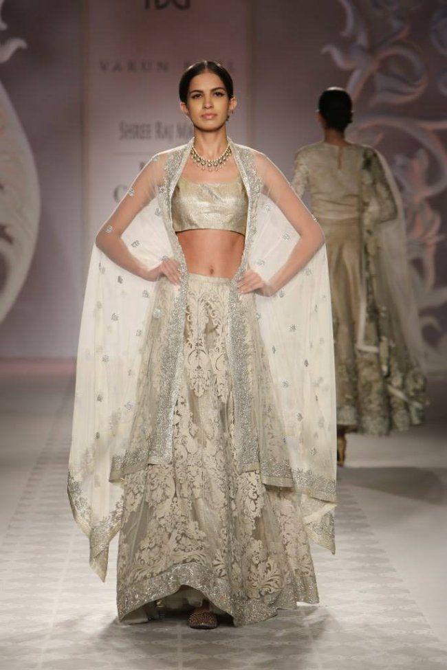 Varun Bahl at India Couture Week - champagne lehenga
