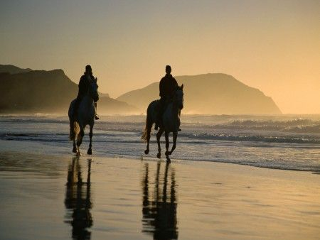 Horse Riding on Noordhoek Beach, Cape Town, South Africa.  Picture c/0 Cape Town Tourism  http://www.capepointroute.co.za/moreinfoOther.php?aID=68
