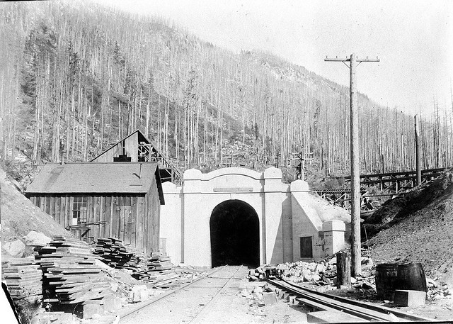 Washington Bill Of Sale >> West portal of the original Great Northern Cascade Tunnel, 1900 | Great northern railroad ...
