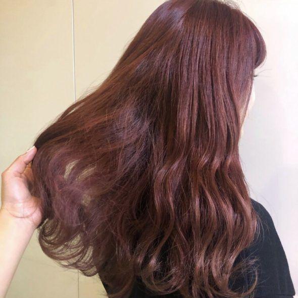 韓国アイドル系オレンジベージュ 髪色 オレンジ 髪色 ベージュ オレンジ ヘアカラー