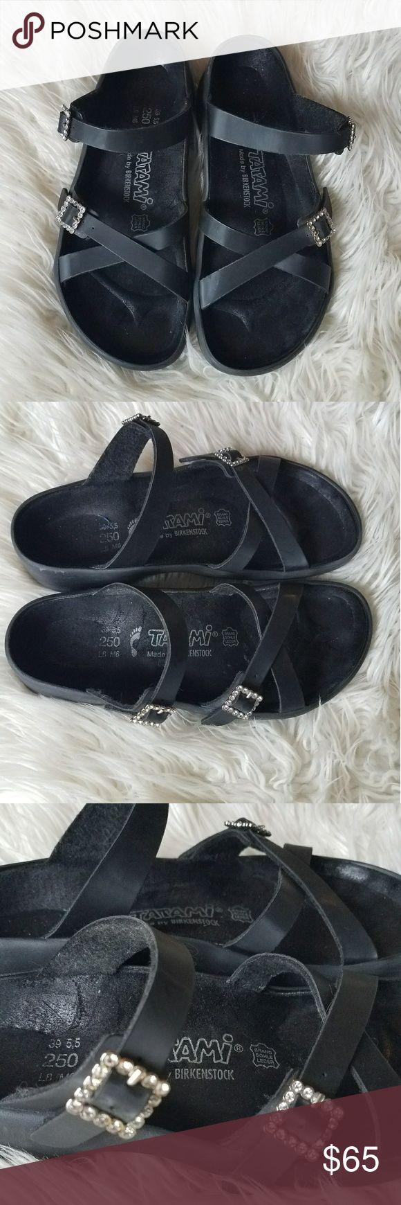 TATAMI Birkenstock Black Strappy Buckle Sandal TATAMI Birkenstock Black Strappy Buckle Sandals.  Size 8 Birkenstock Shoes Sandals