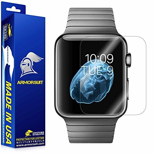 ArmorSuit MilitaryShield Anti-Bubble Ultra HD Full Coverage Screen Protector for Apple Watch 42mm (Series 1)  Clear (2-Pack)