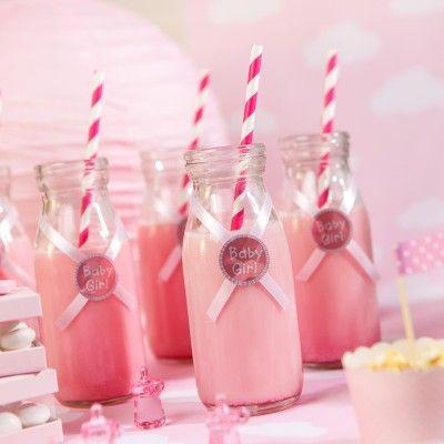 Petite Bouteille Candy Bar Très tendance cette  petite bouteille en verre  façon bouteille de lait ! Pleine ou vide, agrémentée d'un ruban et d'une paille assortie, elle est idéale pour un Candy Bar