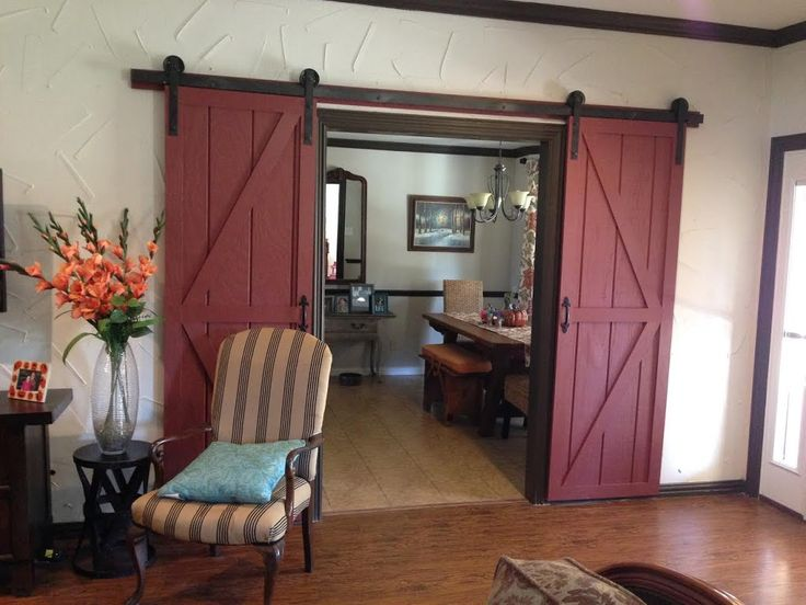 DIY Sliding Barn Door   Wilker Do s      step by step. Top 25  best Exterior barn door hardware ideas on Pinterest