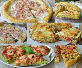 Raccolta di torte crostate e pizze salate facili e sfiziose, ideali in ogni periodo , economiche, svuotafrigo, fantasiose, ricette facili