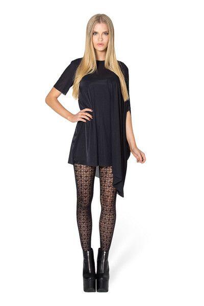 Card Suit Black Hosiery $25 OSFA