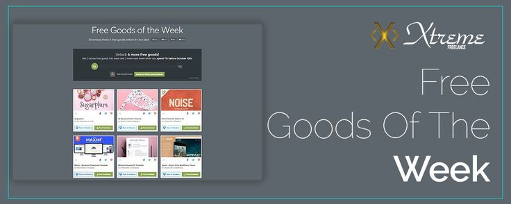Free Goods Of The Week  Sep. 25 #xtremefreelance #wordpressdevelopment
