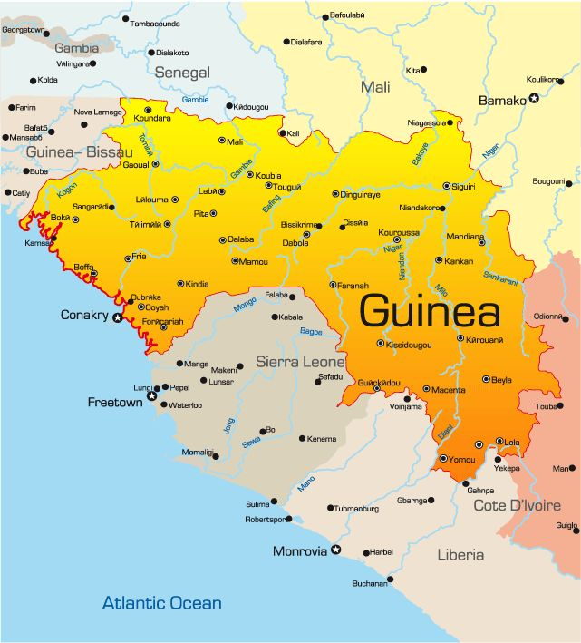 The 25 best Guinea map ideas on Pinterest  Africa map Languages
