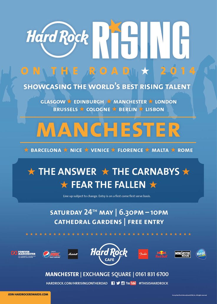 The Hard Rock Rising 'On the Road' tour will bring a unique concert experience in the form of a custom 31 foot truck that converts to the ultimate live music stage to a total of 15 locations in Europe. #HardRockRisingOnTheRoad #ThisIsHardRock #Manchester