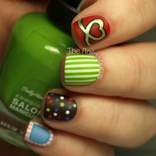 !!!!  The Nailasaurus: Candy Crush Nail Art