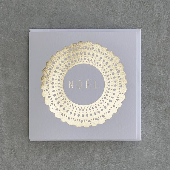 Noel / Gold Foil Design Christmas Card / {Corporate Christmas + Wholesale Available} by UrbanPaddock