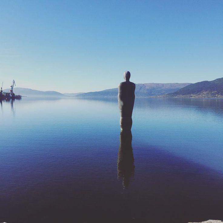 The Man of The Sea looking out from Mo I Rana Norway. #visitnorway #visitmoirana #visitnordland #beautifulsea #fjordsofnorway