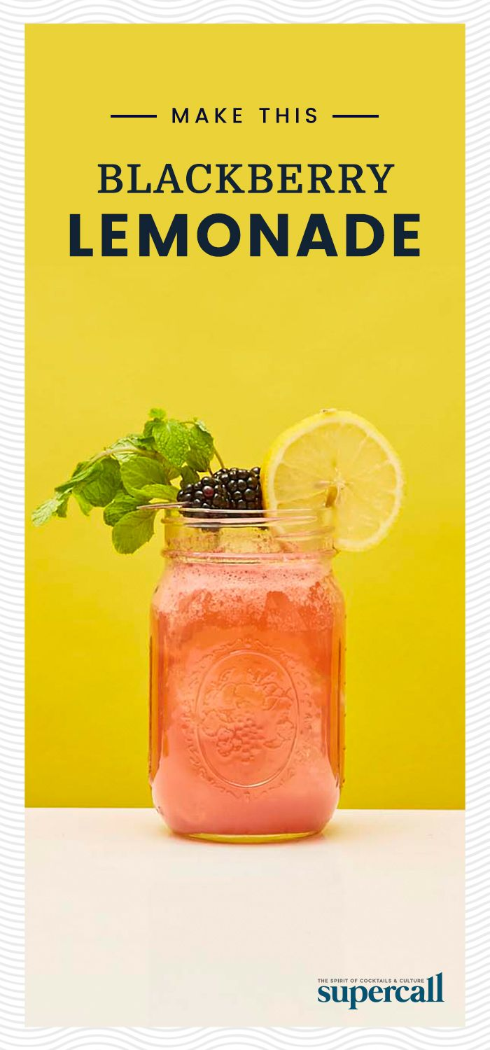 The only way to give Blackberry Lemonade even more Southern charm is to spike it with bourbon and serve it in a Mason jar, of course. This easy recipe demands fresh, plump and juicy blackberries, which get muddled in the shaker with fresh mint. Shake that with sweet bourbon, sour lemon juice and a little simple syrup to balance the drink's tartness. #lemonade #bourbon #cocktails