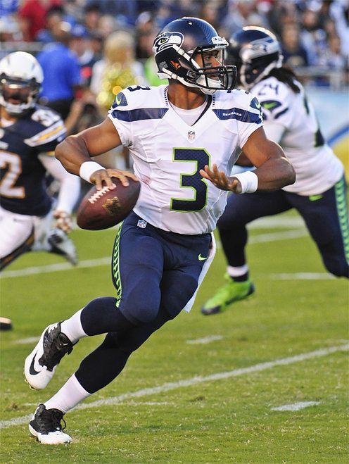 Seattle #Seahawks quarterback Russell Wilson