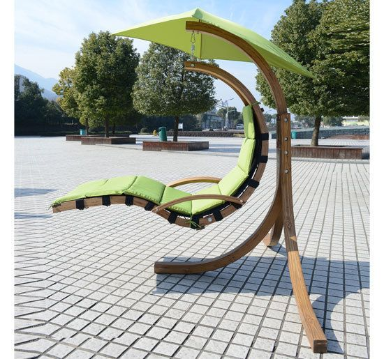 Wood Wooden Garden Swing Chair Seat Seater Hammock