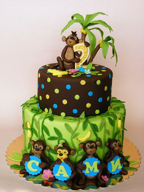 17 Best Images About Monkey Cakes On Pinterest