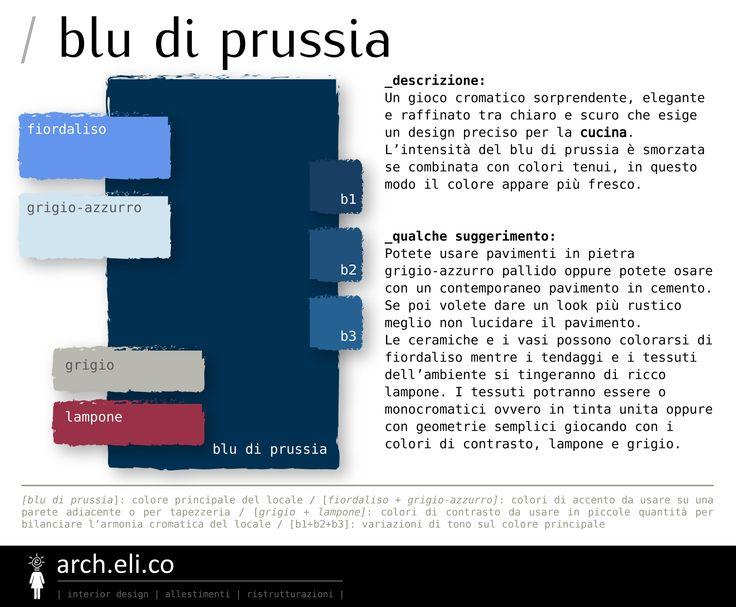 Tavolozza di colore BLU DI PRUSSIA #consiglidiprogetto #homedesign #homestyle #architetto