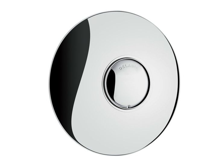 Chrome-plated metal flush plate TEMPOFLUX 2 - 762901 Tempoflux 2 Collection by DELABIE