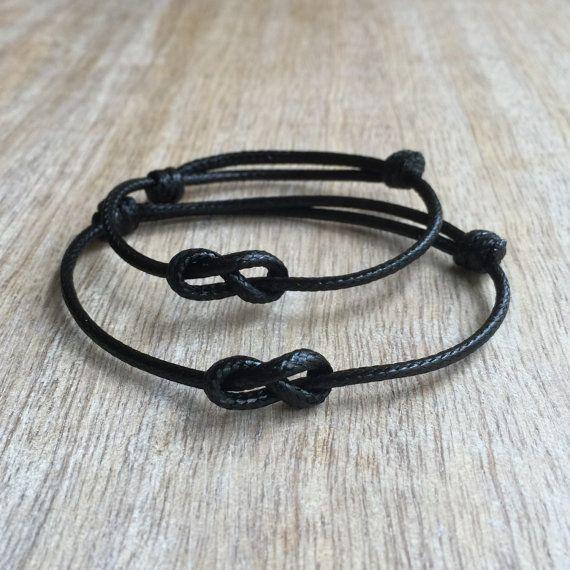 Schlichtes Armband schwarzes gewachstem Cord von Fanfarria auf Etsy