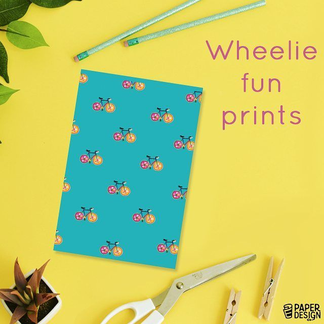 Miniature cycles on the cover of a #notebook, we wheelie love it! Buy one now!