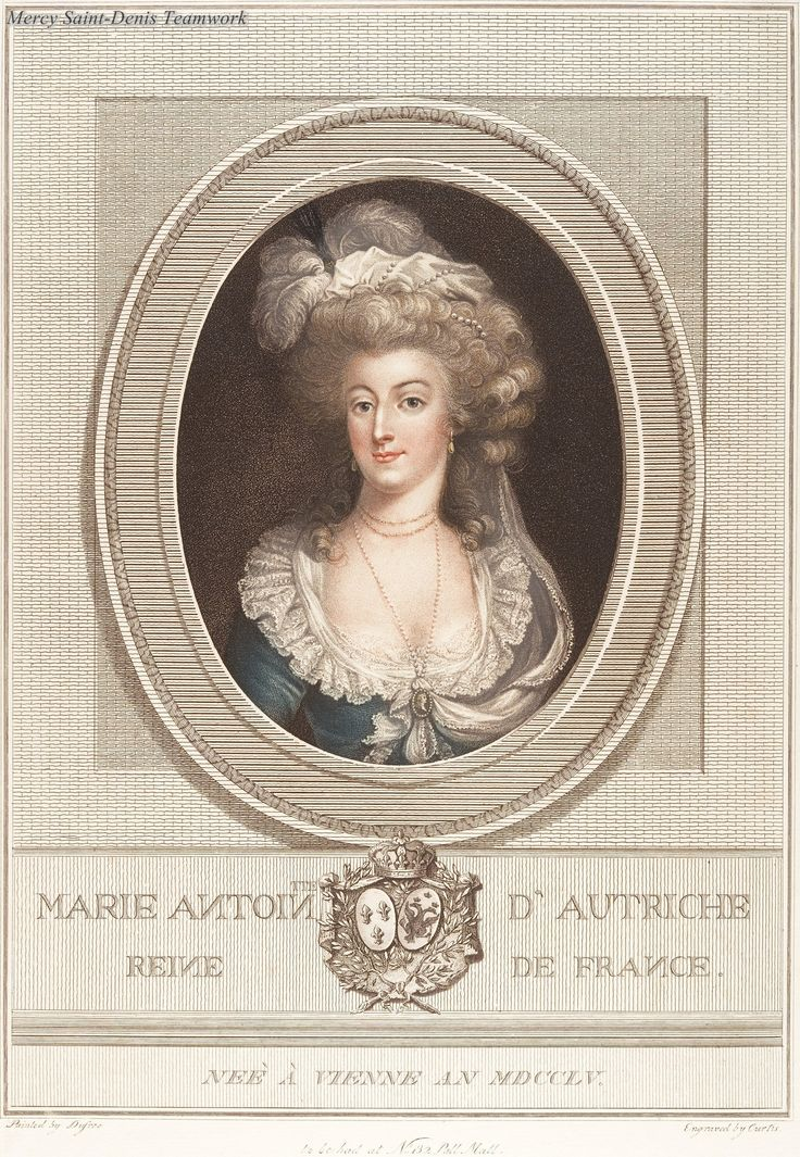 Engraving of Marie Antoinette Anonymous, French, 18th century.