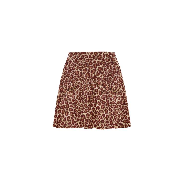 Leopard Mini Skating Skirt (Model D36)