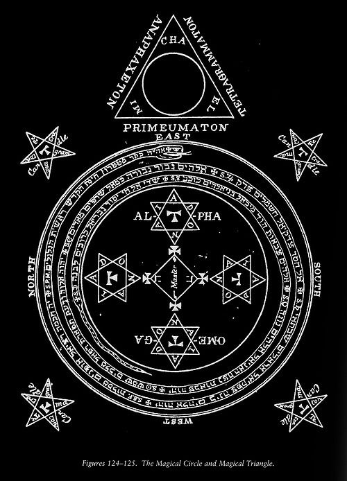 the magic circle and triangle of art of king solomon